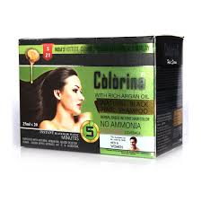 colorina 5 minutes instant hair colour shoo with b hair serum at best in india on naaptol