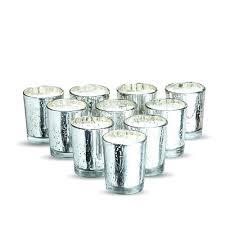 silver mercury glass votives wax votive candles uk