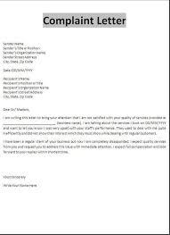 Complain Business Letter Tenant Complaint Letter Tenant Complaint Letter Is From A