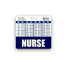 Navy Weight Chart Nurse Badge Buddy Horizontal W Height Weight Conversion Charts Navy Blue