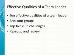 Effective Qualities Of A Team Leader Ppt Download