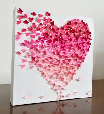 amazing heart wall art 3 d erfly small pink ombre nursery decor children room engagement unique