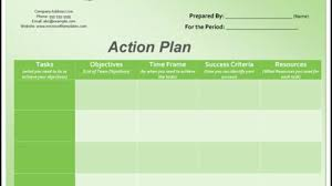 Action Plan Template 3 Action Plan Templates Excel Word Templates