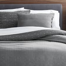 Parker Reversible Duvet Covers and Pillow Shams   Crate and Barrel &  Adamdwight.com