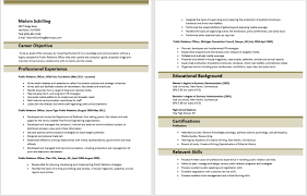 Free Sample Public Relations Resumes Format Example