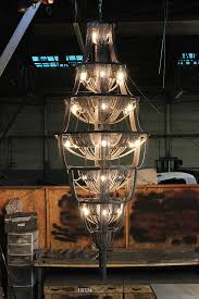 upcycled chandelier made from recycled bike parts by facaro
