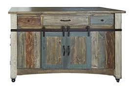 burlesonhomefurnishings anton multi color sliding barn door kitchen island