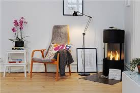image of small corner electric fireplace