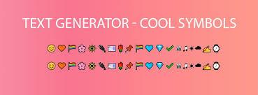 text generator cool symbols emoji
