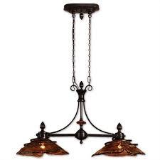 uttermost vitalia 2 light kitchen island light in oil rubbed bronze