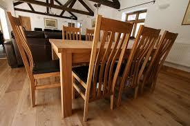european oak tallinn extending dining table set with 6 dark brown winchester leather dining chairs our best ing oak dining table set available in 6