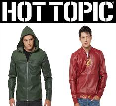 new dc comics tv jackets from hot topic