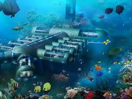 underwater hotel room at night. Key West, Florida: Planet Ocean Underwater Hotel Room At Night