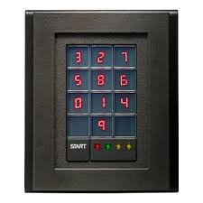 with its scrambling display and viewing restrictor scramblepad secure the pin code entry process at doors gates and other portals