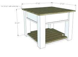 sidetables zinc side table tables farmhouse tutorial and free plans with optional drawer top round