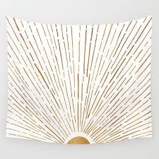let the sunshine in wall tapestry by