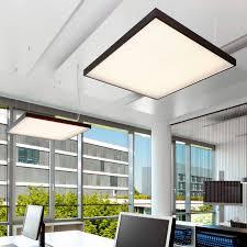 Square Office Lights Hanging Light Fixture Led Square Aluminum Flow Evo Xal