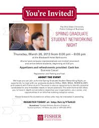 fisher college of business graduate student networking night uli share