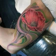 75 Poppy Tetování Vzory Pro Muže Vzpomínka Kvetinové Inkousty