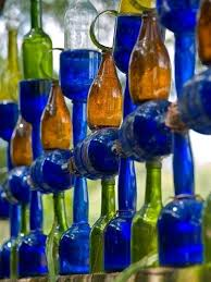 glass bottles upcycled repurposed