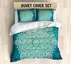 boho doona covers australia boho king size duvet cover mandala bedding turquoise green lace mandala duvet