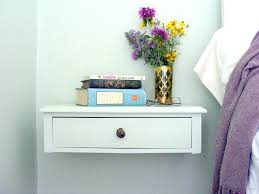 Wall Mounted Drawers Attractive Wide Nightstand With Drawers Making A Wall  Mounted Bedside Table I Y Wall