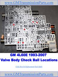 gm 4l60e transmission valve body check ball location picture  at 2007 Cadillac Transmission Vavle Body Wiring Diagram