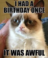 grumpy cat i had a birthday once. Beautiful Grumpy Grumpy Cat With I Had A Birthday Once H
