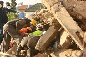 Bildresultat för Four dead, many trapped as building collapses in Lagos