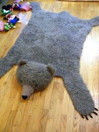 faux bear rug free bear rug knitting pattern link for pattern web extras faux bear