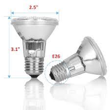 120v Light Bulb Par20 Halogen Spot Light Bulb 120v 240v 35 Watt Flood Lamp Value 6 Pack 35w