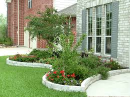 Flower Bed Designs For Front Of House Simple Landscaping Ideas