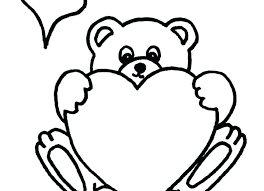 Unique Teddy Bear With Heart Coloring Pages And Free Printable Heart