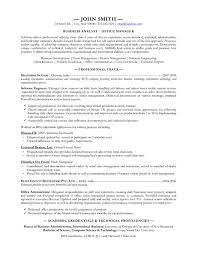 Formal Academic Credentials For Business Analyst Resume Samples