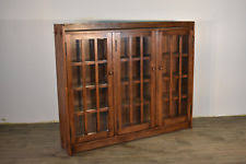 mission style bookcase. Modren Mission Arts And Crafts Mission Style Three Door Large Bookcase Made Of Solid White  Oak Intended