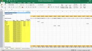 Capital Expenditure Forecast Excel Model Template