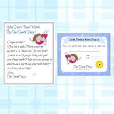 Tooth Fairy Letter Lost Tooth Child Baby Milestone Letter From