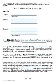 Template Lease Residential Lease Free Apartment Template Contracts