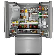 Kitchen Aid French Door Kitchenaid 36 In W 268 Cu Ft French Door Refrigerator With