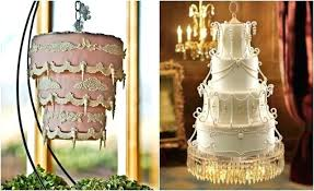 hanging cake glass crystal chandelier