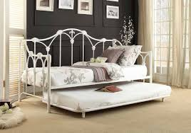 daybed with trundle. Homelegance Julia 4961DB-NT Draws Design White Metal Daybed Trundle With
