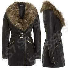 ss7 new women s faux leather fur biker jacket black sizes 8 to 18 b016wq025s