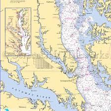 Maryland Chesapeake Bay Lusby Nautical Chart Decor