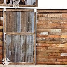 corrugated sliding door | Custom Sliding Barn Door reclaimed wood  corrugated metal