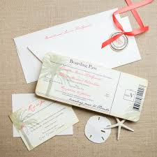 Vintage Boarding Pass Wedding Invitations Too Chic Little Shab
