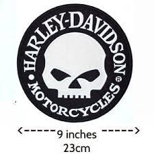 extra large harley davidson willie g skull patch back emblem