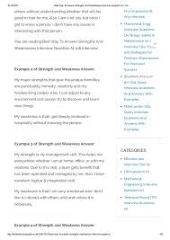 Good Answers For Strengths And Weaknesses Best Way To Answer Strengths And Weaknesses Interview Question For Job