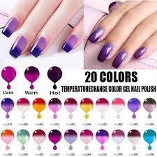 20 Barev Magic Barva Měnící Gel Lak Na Nehty Glitter Flitry Soak Off Uv Gel Změna Teploty Lak Na Nehty At Vova