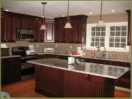 perfect design cherry wood cabinets kitchen tile countertops lighting flooring sink