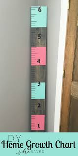 Easy To Make Wooden Childs Home Growth Chart Frugal And